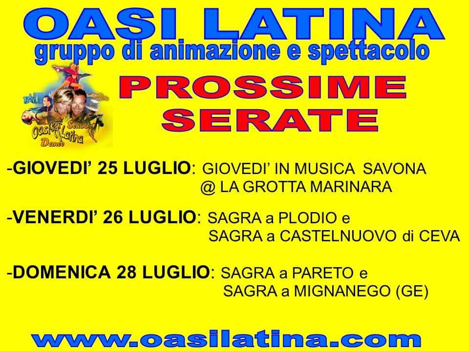 OASI LATINA SUMMER TOUR